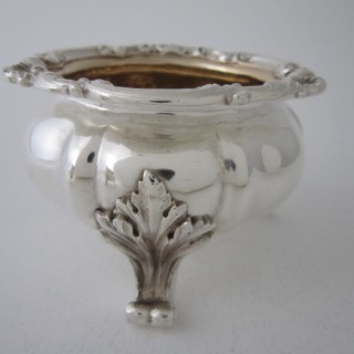 Antique Victorian Sterling Silver Salt Cellars - 1838