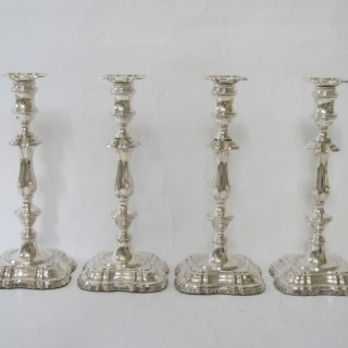 Antique George V Sterling Silver Candlesticks - 1912/1913