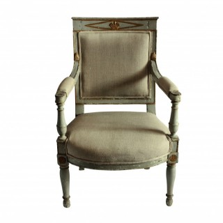 AN EARLY XIX CENTURY SWEDISH DESK CHAIR