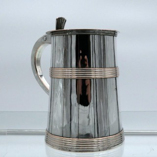 18th Century Antique George III Old Sheffield Tankard & Cover Circa 1790
