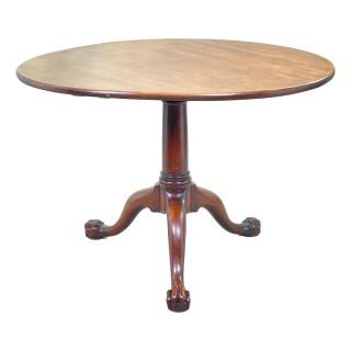 Mid-18th Century English Georgian Mahogany Circular Supper Table