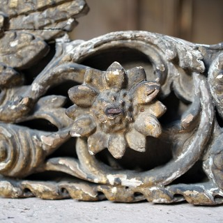 A George II Period Carved & Gilded Wood & Gesso Fragment c.1730