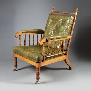 A william IV mahogany simulated bamboo easy chair