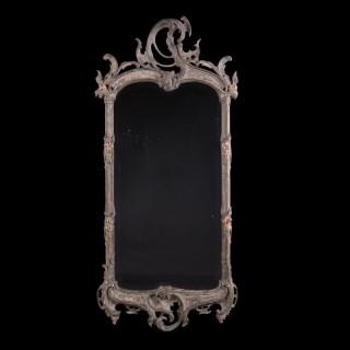 A Dutch Rococo painted pier mirror
