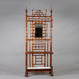 A very large scale simulated bamboo hall stand