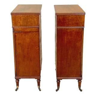 Fine Pair Of Regency Mahogany Side Cabinets