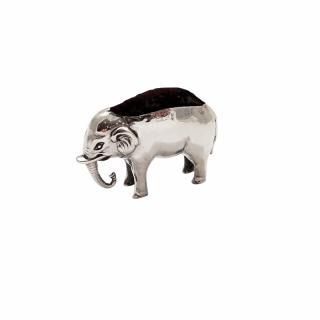 Antique Edwardian Sterling Silver Elephant Pin Cushion 1908