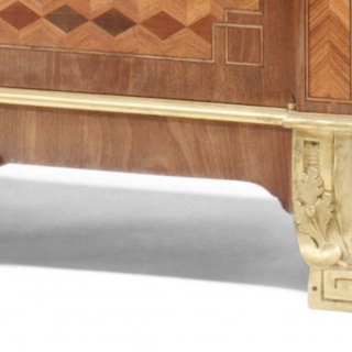 A FRENCH ORMOLU-MOUNTED TULIPWOOD, FRUITWOOD AND PARQUETRY SECRÉTAIRE À ABATTANT BY MILLET