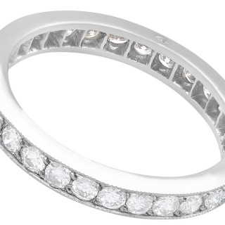 1.02 ct Diamond and 18 ct White Gold Full Eternity Ring - Vintage French Circa 1940