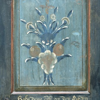 Painted cupboard, dated 23rd June 1817, Austria