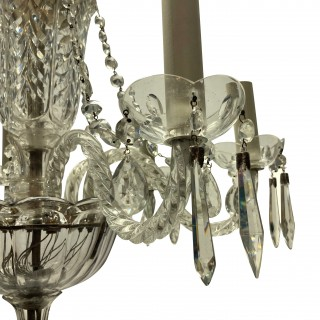A SMALL WATERFORD CHANDELIER