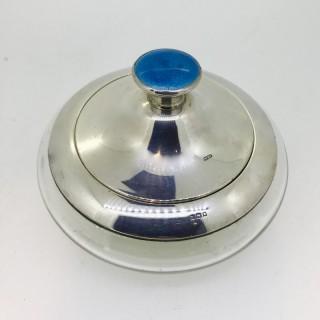 Silver and Enamel Powder Pot