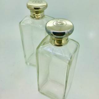 Pair of Tall Cologne Bottles