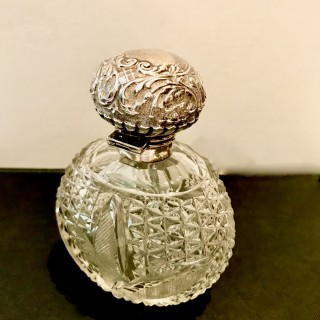 Victorian Silver and Glass Scent Bottle