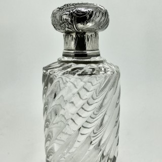 Silver and Glass Cologne Bottle