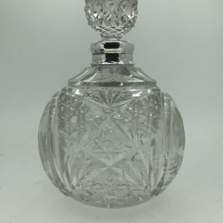 Glass and Silver Scent Bottle