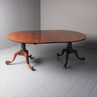 Antique Georgian Mahogany Twin Pedestal Dining Table