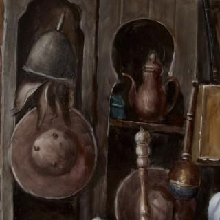 Orientalist KPM Porcelain Plaque of Interior Scene