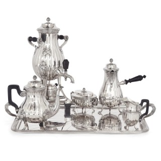 Antique Silver Rococo Style Six-Piece Tea and Coffee Set by Maison Cardeilhac