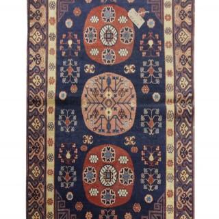 Handwoven Oriental Kohtan Rug, Fine Antique wool Carpet -119x286cm