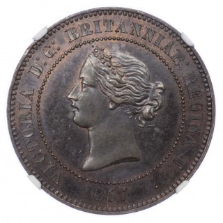 1857 DECIMAL PATTERN FIVE FARTHINGS – 10 CENTIMES