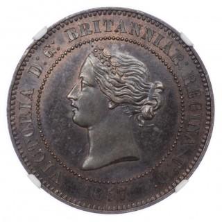1857 DECIMAL PATTERN FIVE FARTHINGS – 10 CENTIMES
