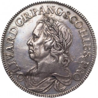 OLIVER CROMWELL, SILVER CROWN, 1658/7