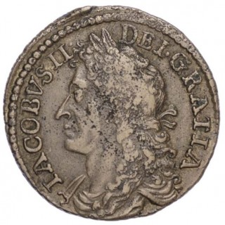 JAMES II (1685-91), IRELAND, GUNMONEY, JANUARY 1689, DUBLIN