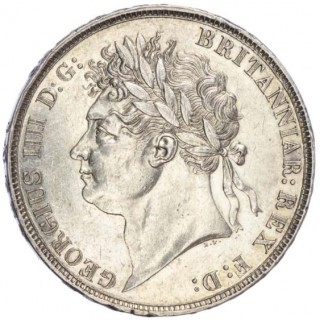 GEORGE IV (1820-30), CROWN, 1822, SECUNDO EDGE