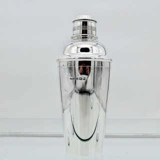 George V Sterling Silver Cocktail Shaker Birmingham 1933 Angora Silver Plate & Co