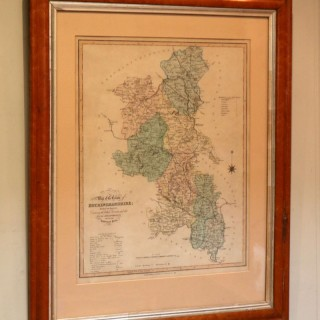 Buckinghamshire Map In A Maple Frame