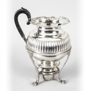 Antique Silver Plate Coffee Biggin on Stand by Elkington C1860 19th C