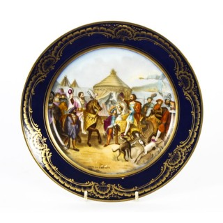 Antique French Sevres Porcelain Cabinet Plate