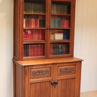 Solid Teak Cabinet Bookcase
