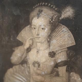 A Framed Mezzotint By John Faber Jr (c.1684-1756); The Most Illustrious Princess Elizabeth Crown'd Queen of England 1742
