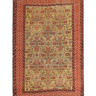 Persian Rug Handwoven Oriental Wool Carpet Area Rug- 126x189cm