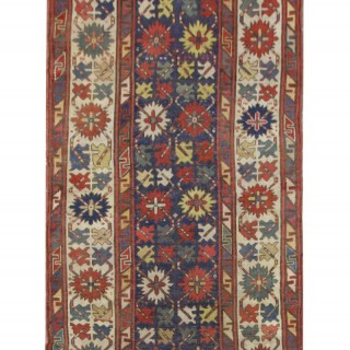 Handmade Caucasian Oriental Wool Karabagh Rug Wool Carpet- 115x280cm