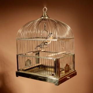 A Brass Very Decorative Bird Cage Circa 1920-50