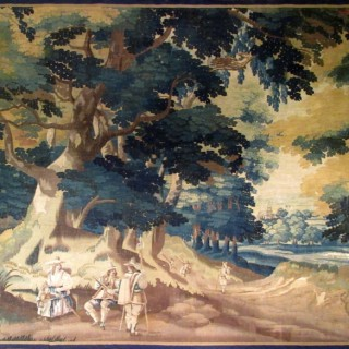 a large verdure tapestry panel