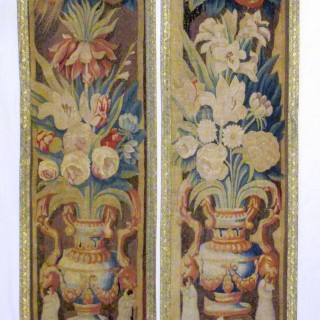 A pair of 17th century border panels