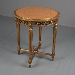 Antique Style Giltwood Occasional Table