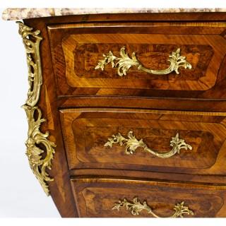 Antique Louis XVI Ormolu Mounted Walnut Commode 18th Century