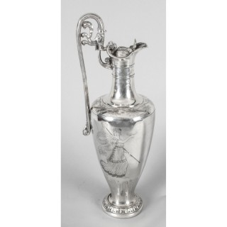Antique Victorian Silver Plate Claret Jug by Elkington 19th Century
