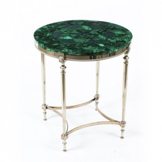Antique French Art Deco Malachite Occasional Table Circa 1920