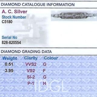 4.46ct Diamond and Platinum Bracelet - Antique Circa 1930