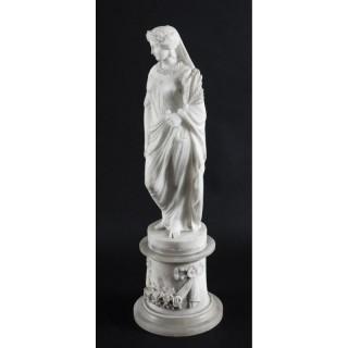 Antique Italian Alabaster Sculpture of the Goddess Demeter 19th Century