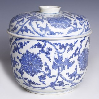 Chinese Kangxi Large Blue and White Ceramic Bowl