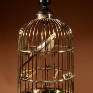 A Brass Very Decorative round Bird Cage Circa 1920