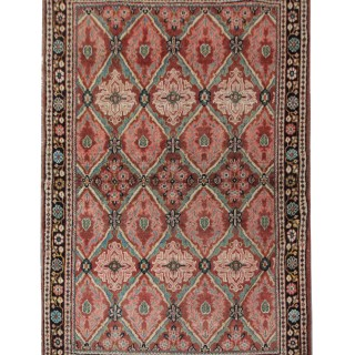 Antique Persian Mahal Rug, Oriental Wool Carpet- 133x200cm