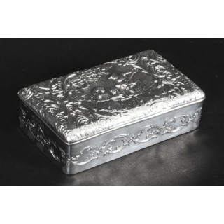 Antique Edwardian Sterling Silver Jewellery Box Casket H. Matthews 1901